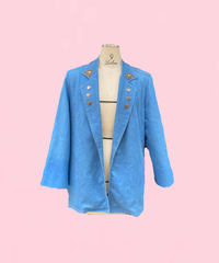 tailored denim jacket  H043-21
