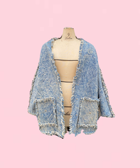 fringe denim jacket   H043-10