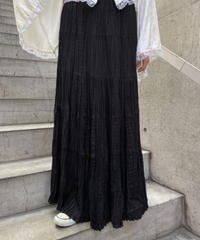 gather long skirt  H0010