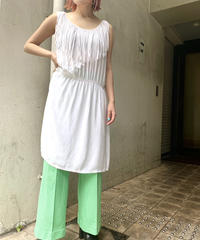 fringe no sleeve one-piece