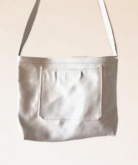 イタリアンレザー サコッシュ Bianco Itarian leather pochette