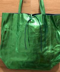 Italian Leather shiny metallic tote bag イタリアン レザーメタリック シャイニートートバッグ