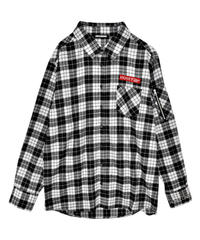 193SH0822 <unisex>BOXロゴチェックシャツ