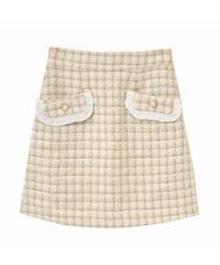 HC211SK0104 ツィード台形スカート