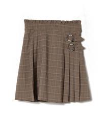 193SK0829 チェックプリーツスカート