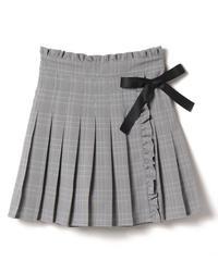 201SK0308 サイドリボンプリーツスカート