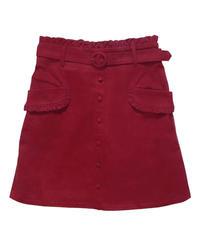 192SK0509 センターボタン台形スカート