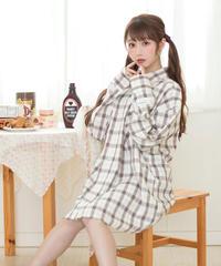 193SH0891【予約】<Unisex>BIGチェックシャツ