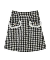 HC211SK0104 ツイード台形スカート
