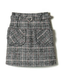 194SK1148 パールハートバックル台形スカート