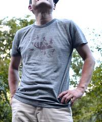いもTシャツ「ヘザーグレー×BORDEAUX 」