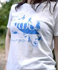 いもTシャツ「オフホワイト×LIGHTBLUE」