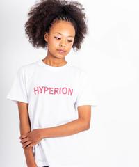 レッドペイズリーロゴ Tシャツ ホワイト