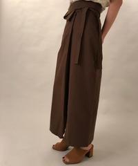 Frap long skirt  Brown