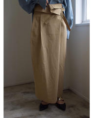 Flap long skirt BEIGE