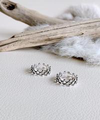 dot silver ring S-003