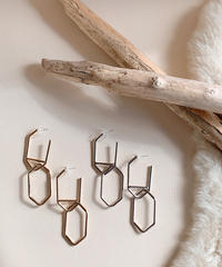 silver&gold pierce V-009