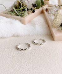 twist silver ring V-019