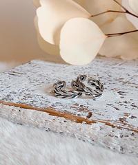 twist silver ring U-007