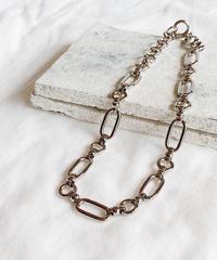 silver chain choker G206