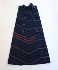 コルテスカートMaxi/インディゴ縞刺繍/中140