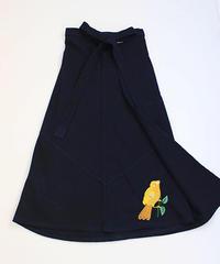 コルテスカートL/IND刺繍/鳥イエロー334