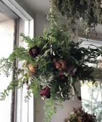 クリスマス吊るすリース
