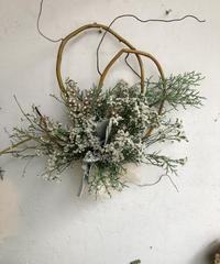 ホワイト系クリスマスリース