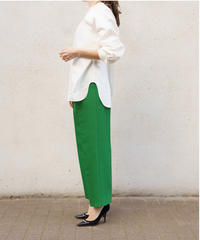 Wool Silk Tuck Pants