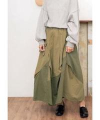 バイカラーワークアシメスカート