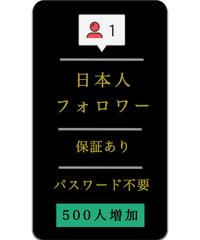 【新価格】日本人フォロワー500人増加