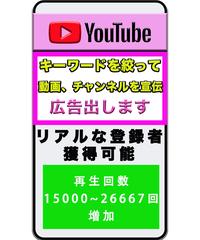 Youtube上の目立つ場所に広告掲載 予算:100000円