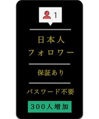 【新価格】日本人フォロワー300人増加