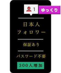 【値下げしました】日本人フォロワーをゆっくり自然に300人増加