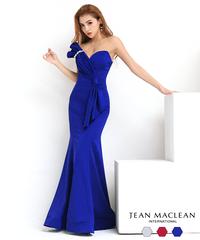 【JEAN MACLEAN】ワンカラー/プリーツモチーフ付き/LongDress【91790】
