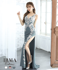 【IRMA】フラワーレース/スリット入り/Dress【91761】