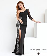 【JEAN MACLEAN】ワンショル袖付き/LongDress【91784】