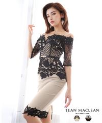【JEAN MACLEAN】レースバイカラー/袖付きOP【95645】