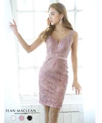 【JEAN MACLEAN】シアーレース/レース刺繍/OP【91732】