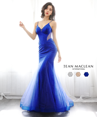 【JEAN MACLEAN】カットアウト/スパンコール/LongDress【11924-1】