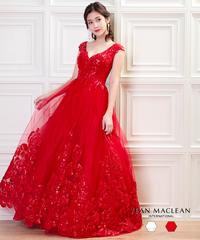 【JEAN MACLEAN】フラワーレース/スパンコール/姫/LongDress【91748】
