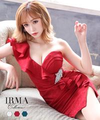 【IRMA】フリルワンショル/ジャガード/OP【15698】