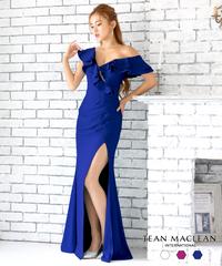 【JEAN MACLEAN】フリルワンショルダー/LongDress【95635】