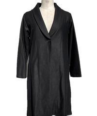 黒ウールショールカラーコート