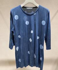 藍墨雨晴カットソー5分袖