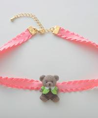 テディベアチョーカー/pink