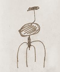 アイアンズチェア  4本足 座面:丸型