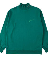LOGO mock-neck  GRN