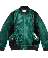 Bi-color Velours blouson