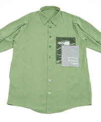 【限定600着】Overlapping shirt GRN